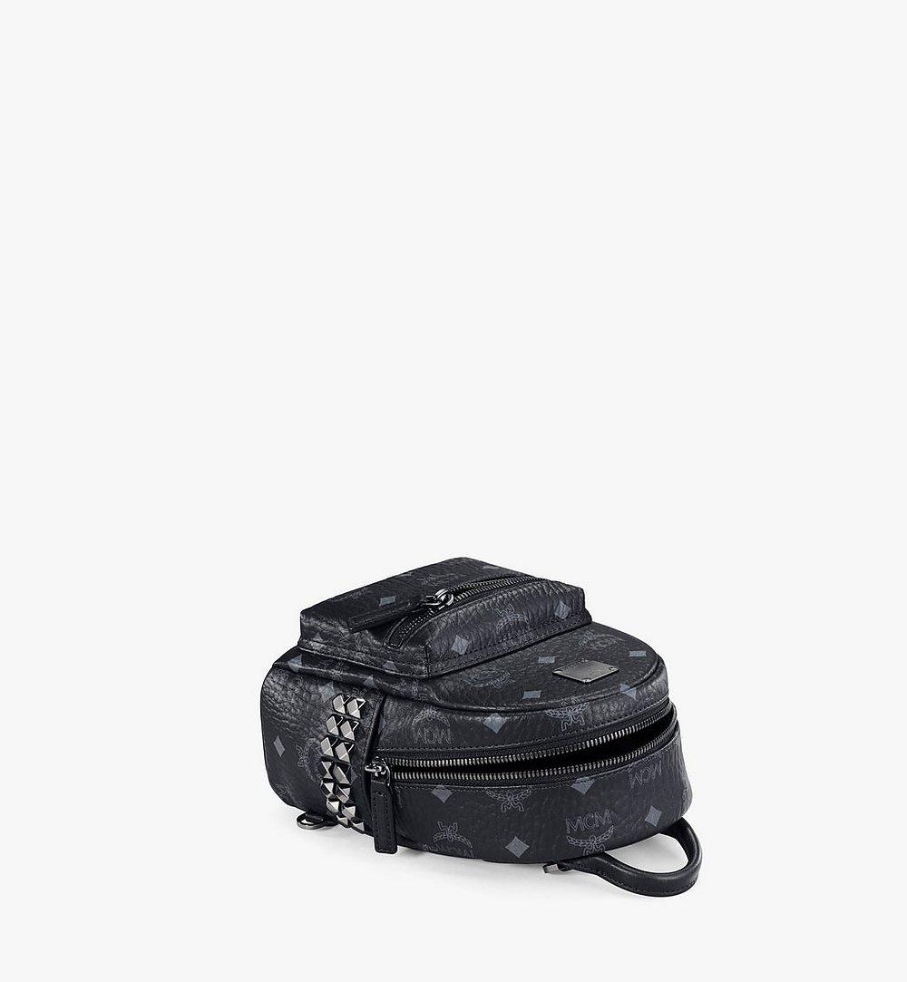MCM Stark Bebe Boo Side Studs Backpack in Visetos Cognac MMKAAVE13BK001 Alternate View 2