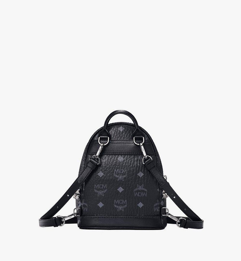 MCM Stark Bebe Boo Side Studs Backpack in Visetos Cognac MMKAAVE13BK001 Alternate View 3