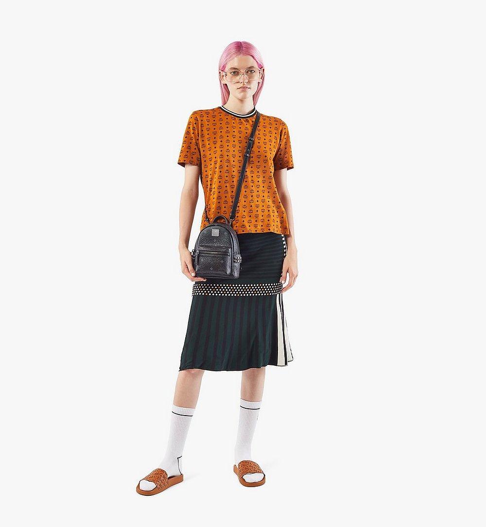 MCM Stark Bebe Boo Side Studs Backpack in Visetos Cognac MMKAAVE13BK001 Alternate View 4