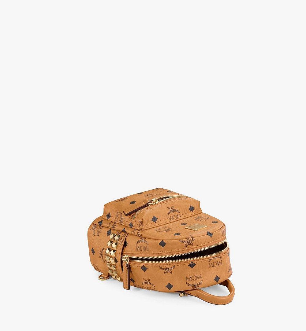 MCM Stark Bebe Boo Side Studs Backpack in Visetos Black MMKAAVE13CO001 Alternate View 2