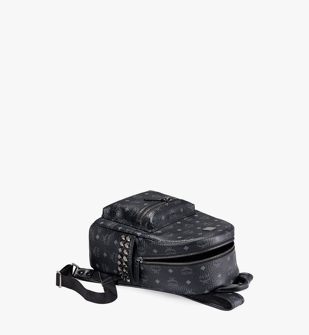 MCM Stark Side Studs Backpack in Visetos Cognac MMKAAVE15BK001 Alternate View 2