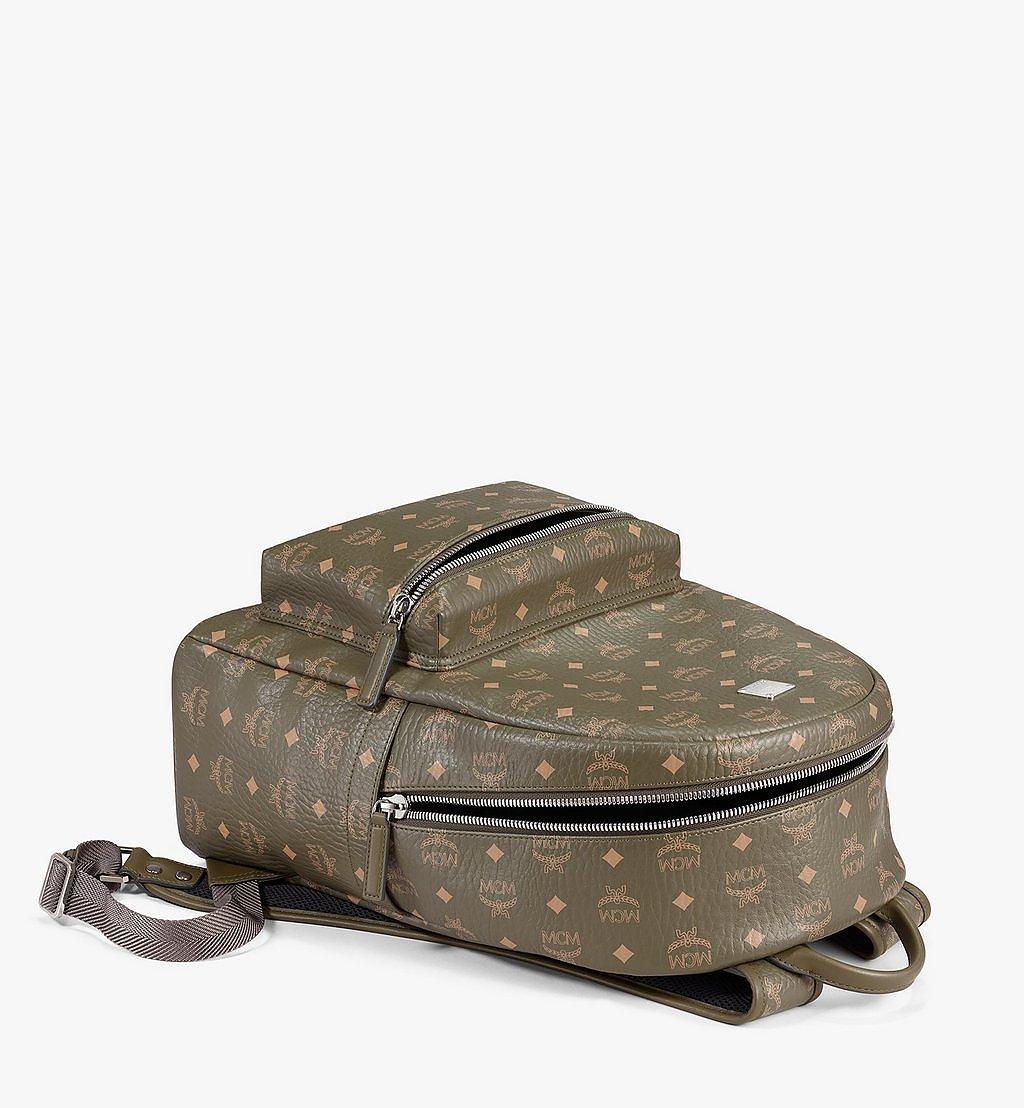 MCM Stark Side Studs Backpack in Visetos Green MMKAAVE16JH001 Alternate View 2
