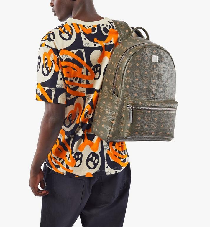 MCM Stark Backpack in Visetos Green MMKAAVE16JH001 Alternate View 8