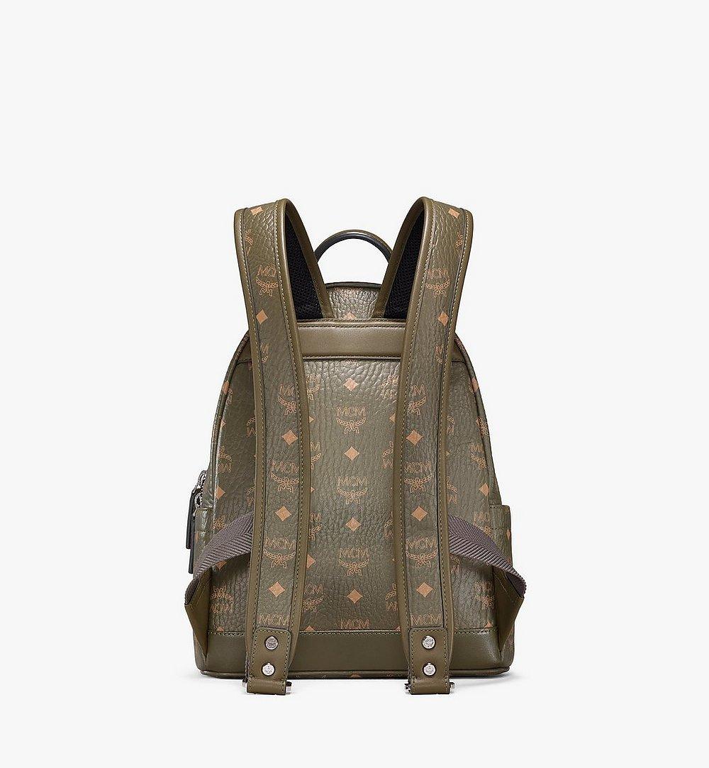 MCM Stark Side Studs Backpack in Visetos Green MMKAAVE17JH001 Alternate View 3