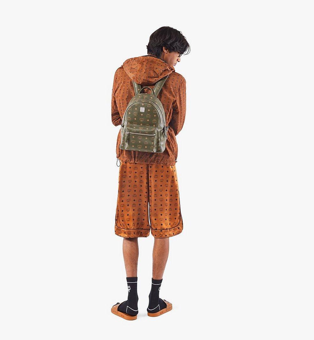MCM Stark Side Studs Backpack in Visetos Green MMKAAVE17JH001 Alternate View 4