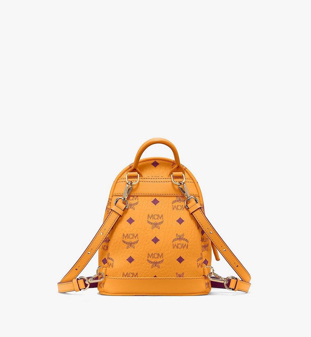 MCM Stark Bebe Boo Backpack in Visetos Orange MMKAAVE18O5001 Alternate View 3