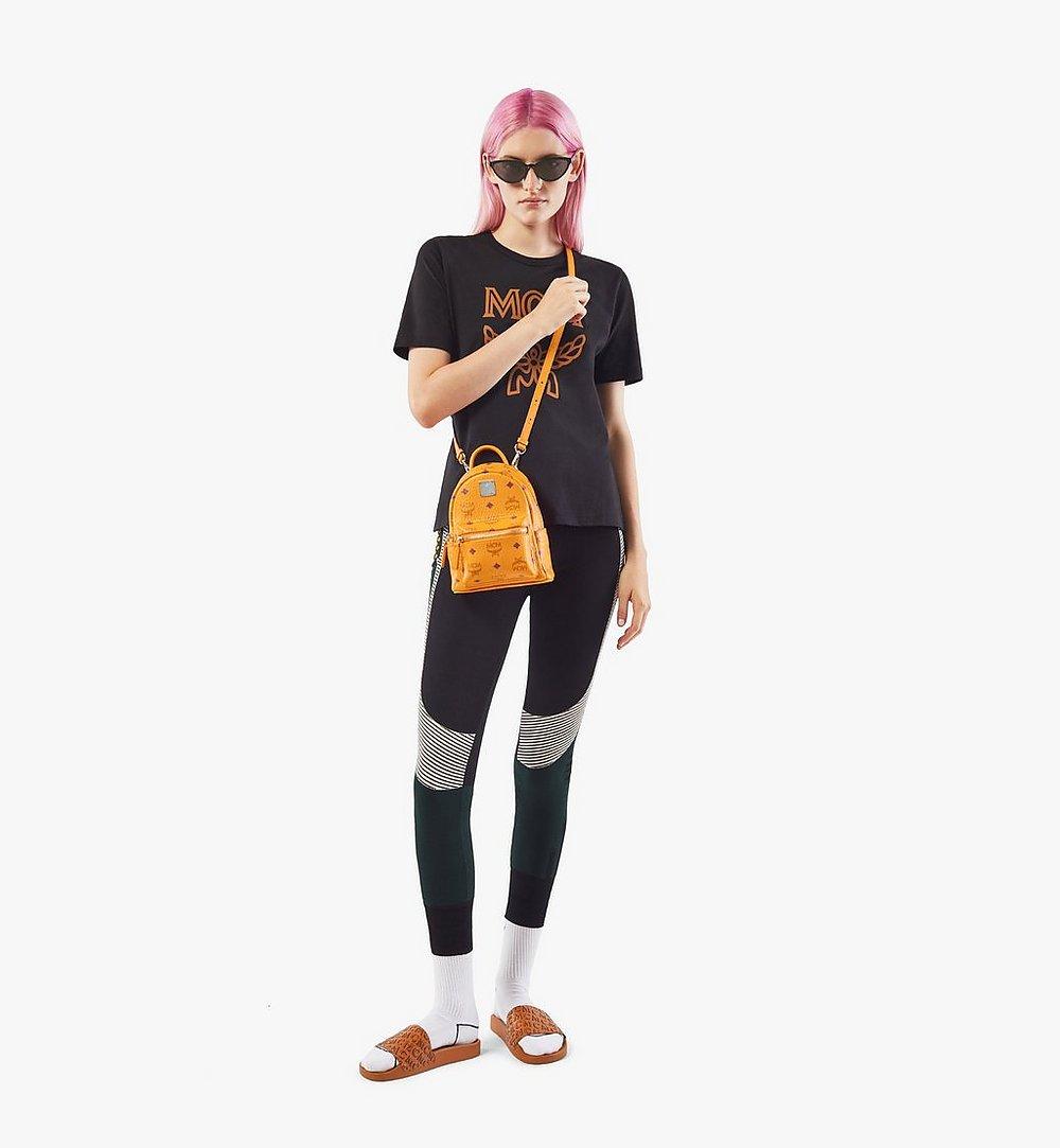 MCM Stark Bebe Boo Backpack in Visetos Orange MMKAAVE18O5001 Alternate View 4