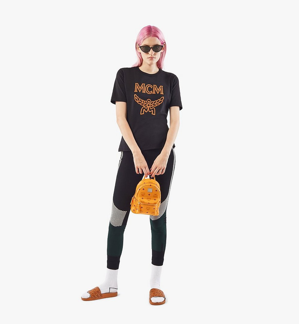 MCM Stark Bebe Boo Backpack in Visetos Orange MMKAAVE18O5001 Alternate View 5
