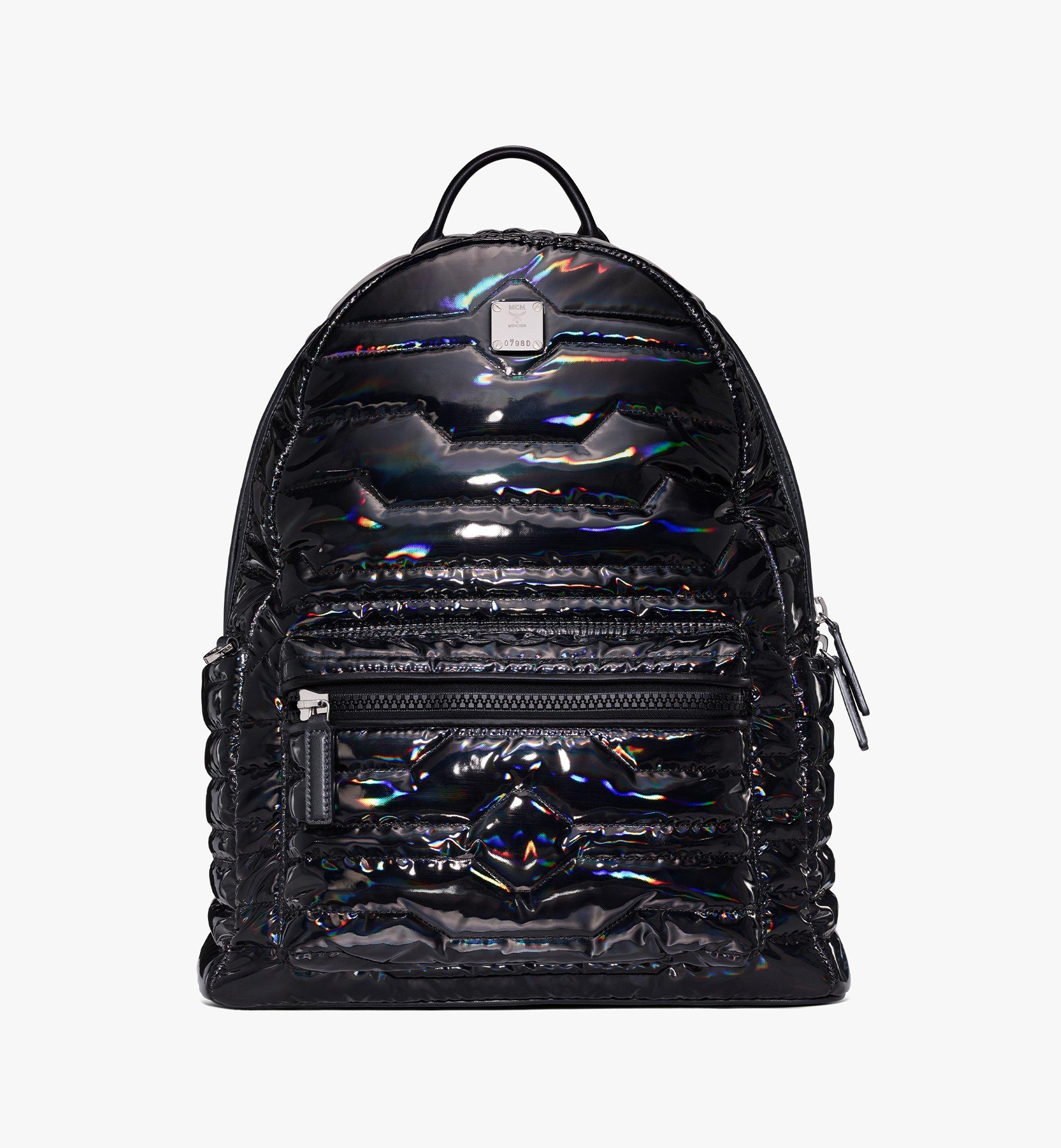 MCM Stark Backpack in Tec-Quilt Fabric Black MMKAAVE19BK001 Alternate View 1
