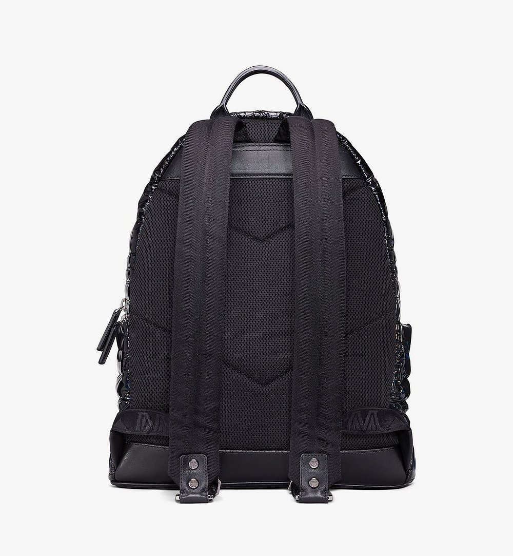 MCM Stark Backpack in Tec-Quilt Fabric Black MMKAAVE19BK001 Alternate View 3