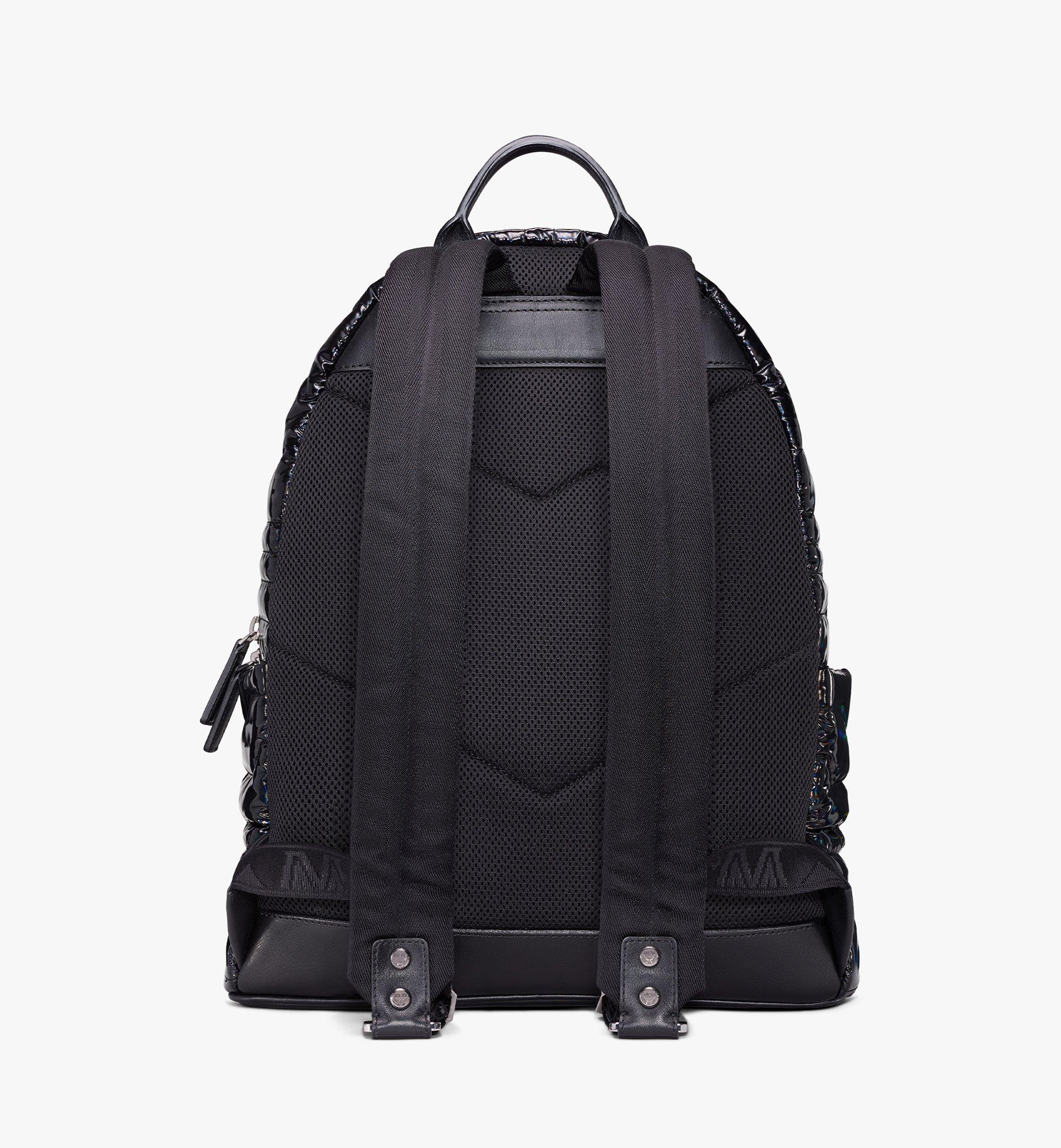 MCM Stark Backpack in Tec-Quilt Fabric Black MMKAAVE19BK001 Alternate View 4