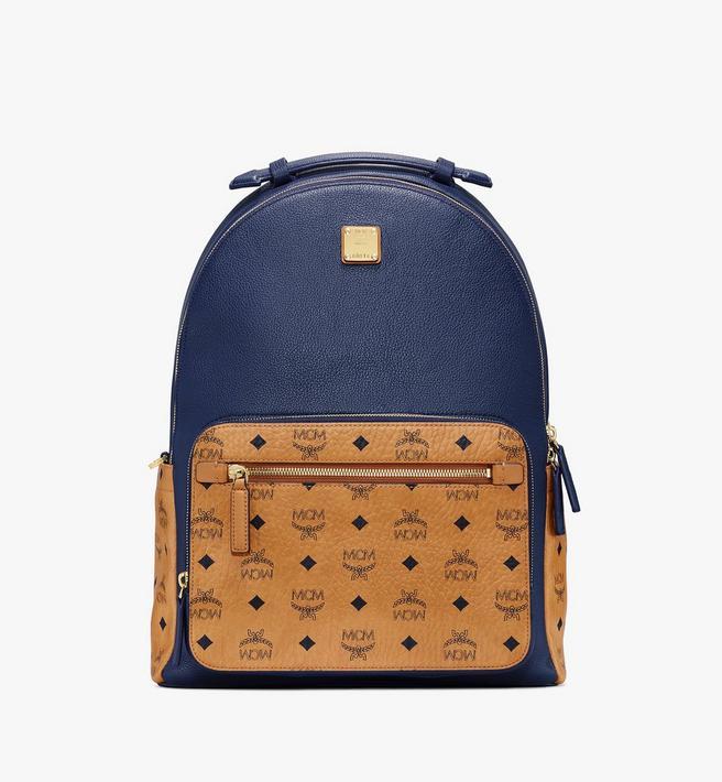 MCM Stark Backpack in Visetos Leather Block Alternate View