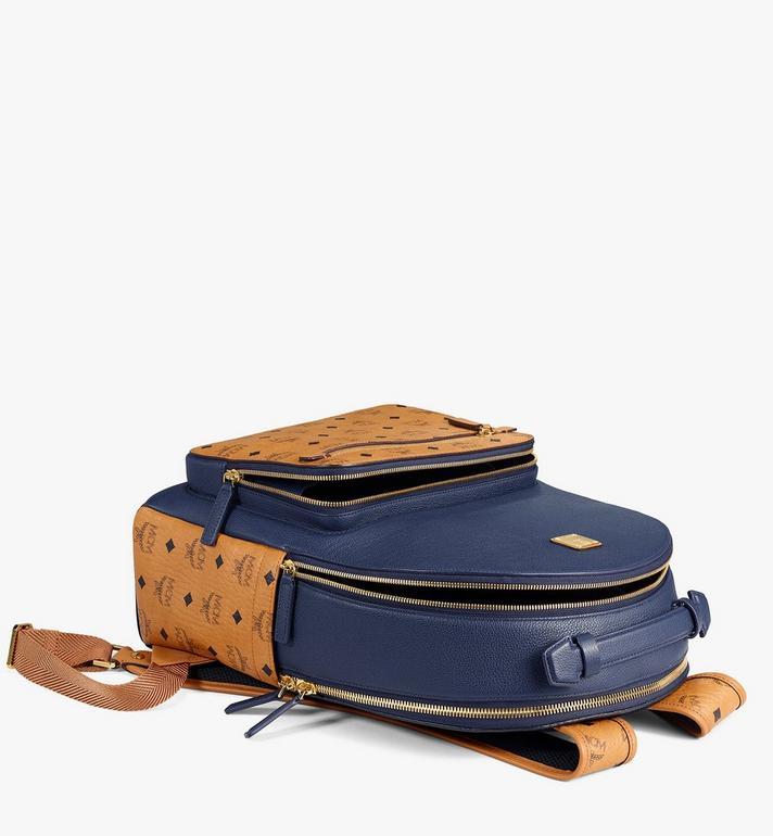 MCM Stark Backpack in Visetos Leather Block Cognac MMKAAVE22VU001 Alternate View 3