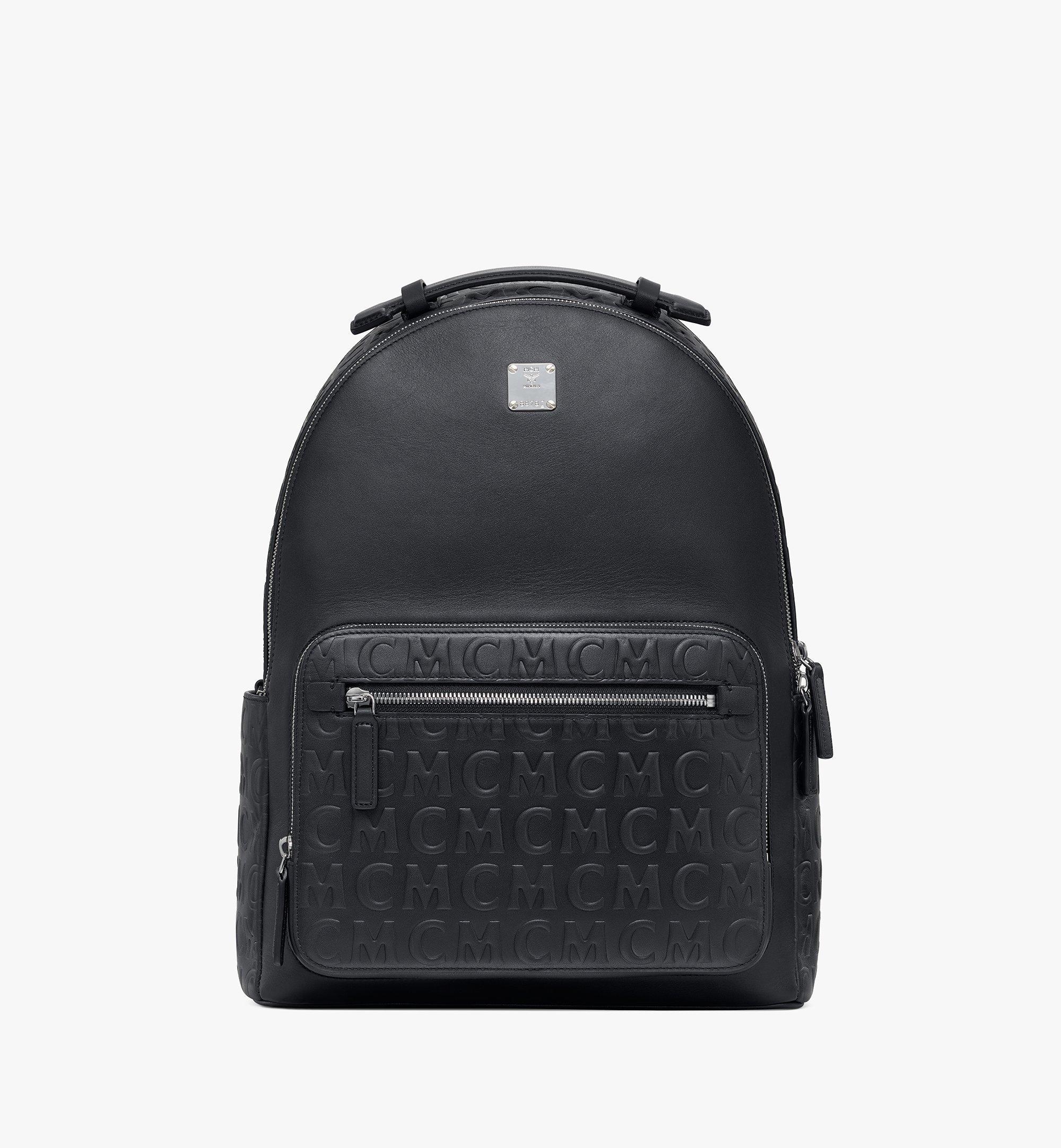 MCM Stark Backpack in MCM Monogram Leather Black MMKAAVE25BK001 Alternate View 1