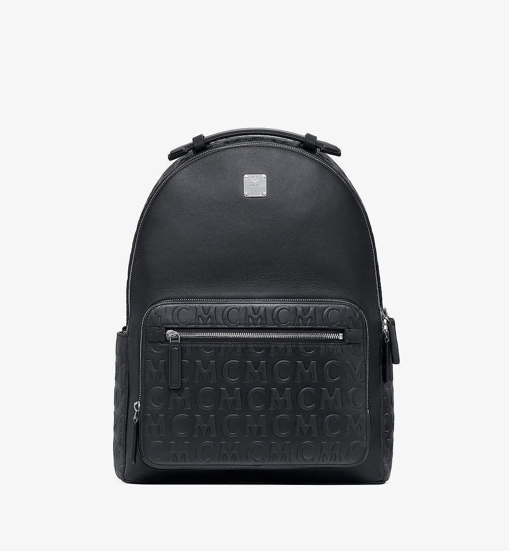 MCM Stark Backpack in MCM Monogram Leather Black MMKAAVE25BK001 Alternate View 1