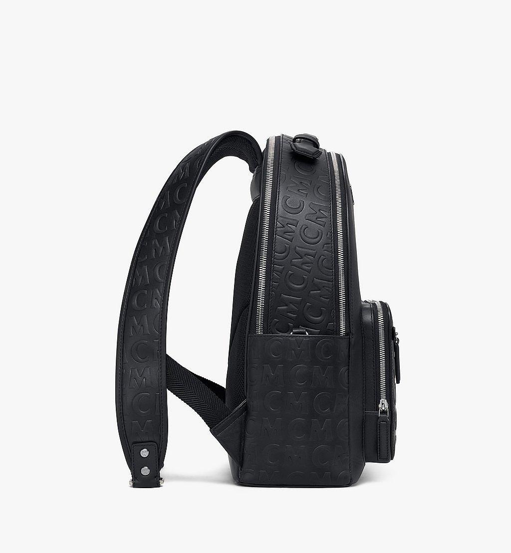 MCM Stark Rucksack aus Leder mit MCM-Monogramm Black MMKAAVE25BK001 Noch mehr sehen 1