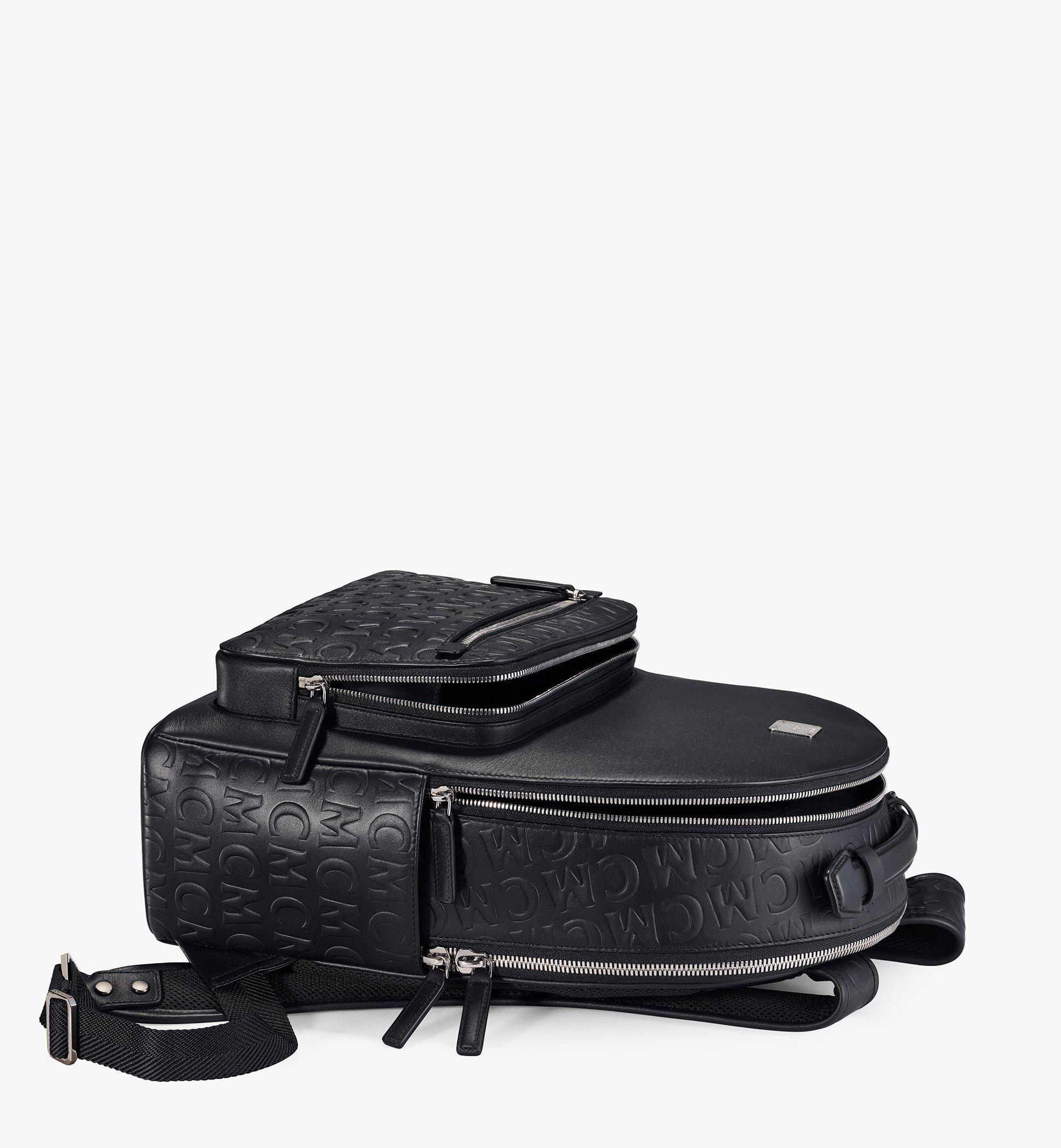 MCM Stark Backpack in MCM Monogram Leather Black MMKAAVE25BK001 Alternate View 2