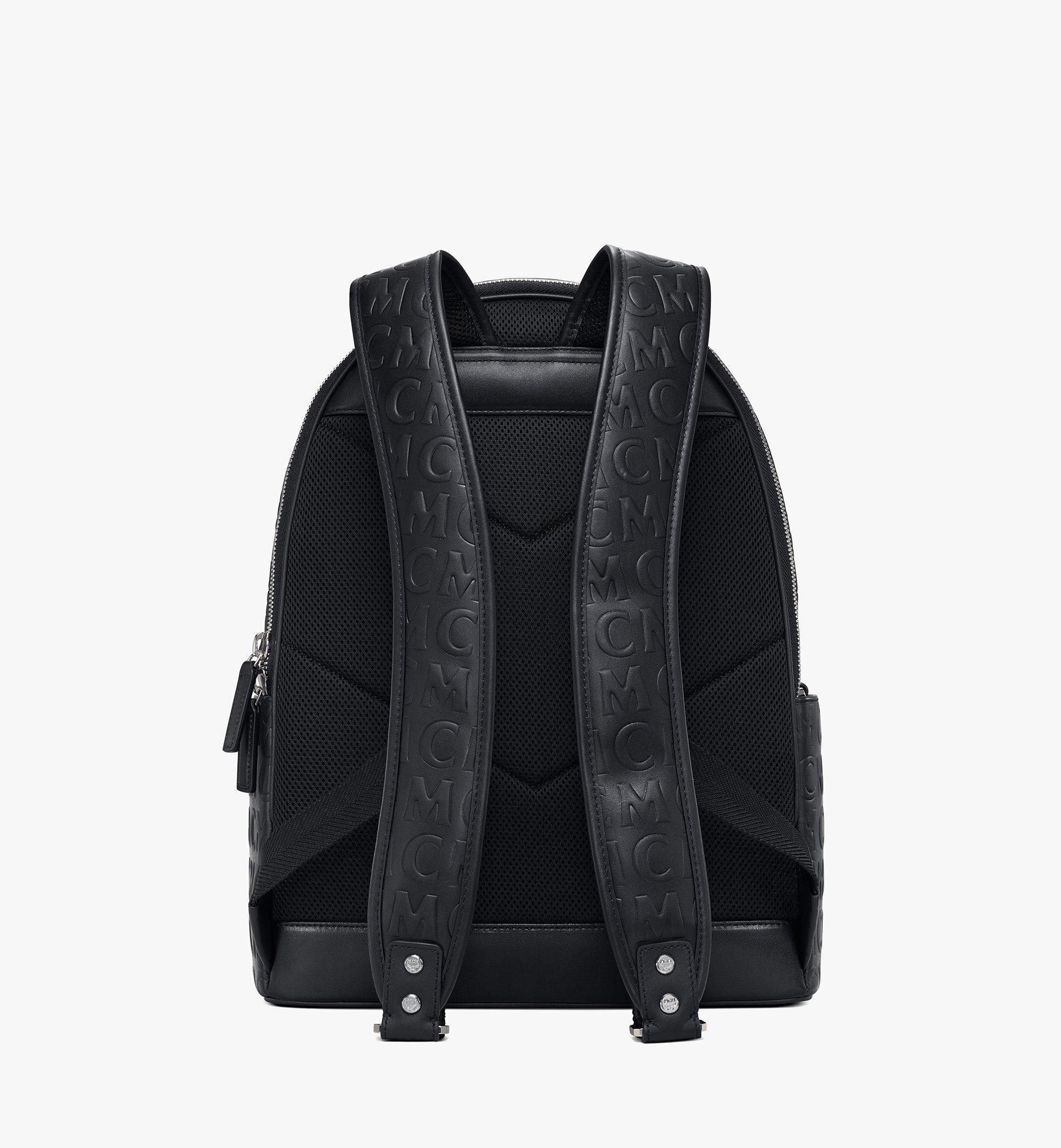 MCM Stark Backpack in MCM Monogram Leather Black MMKAAVE25BK001 Alternate View 3