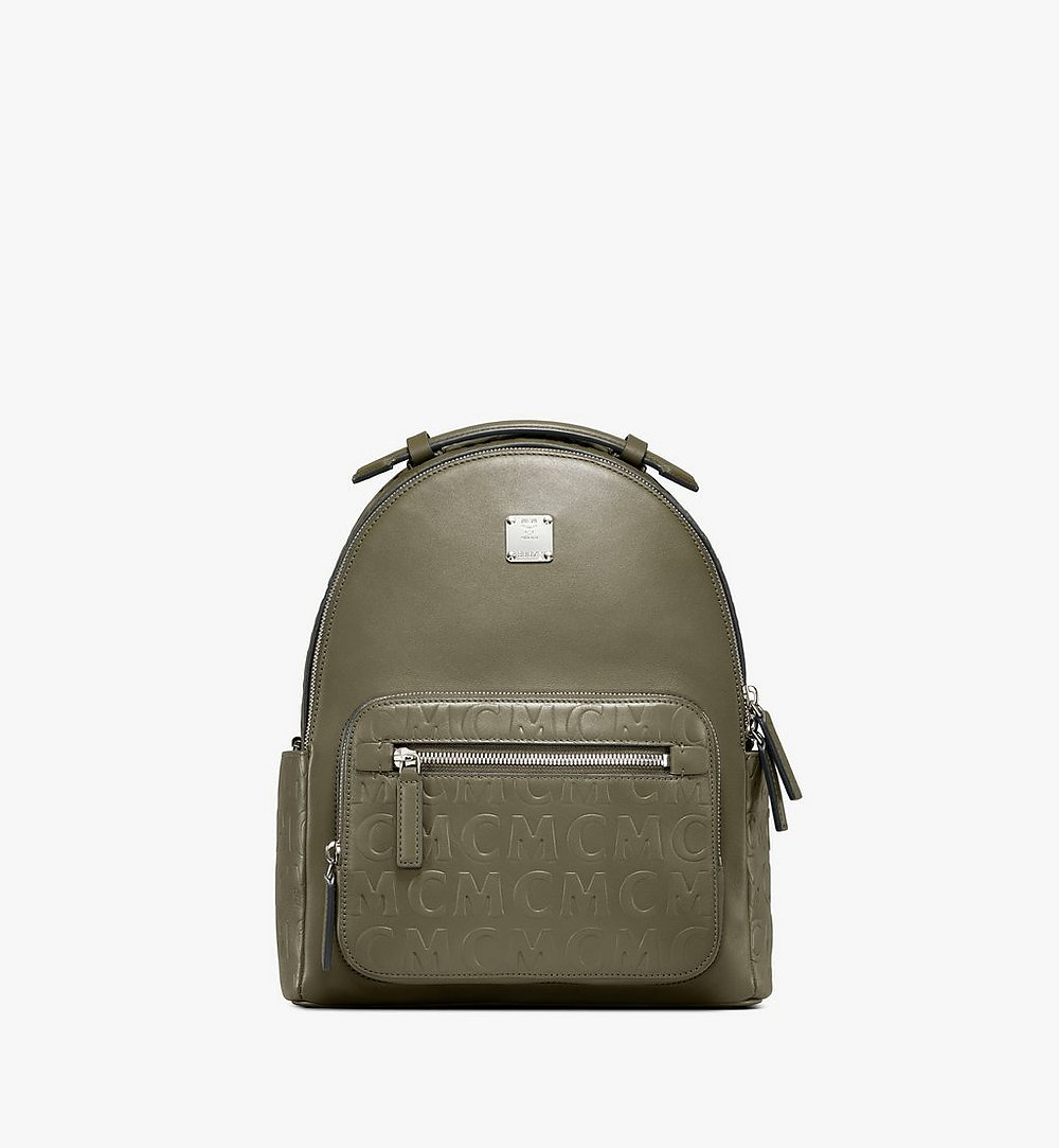 MCM Stark Backpack in MCM Monogram Leather Green MMKAAVE26JH001 Alternate View 1