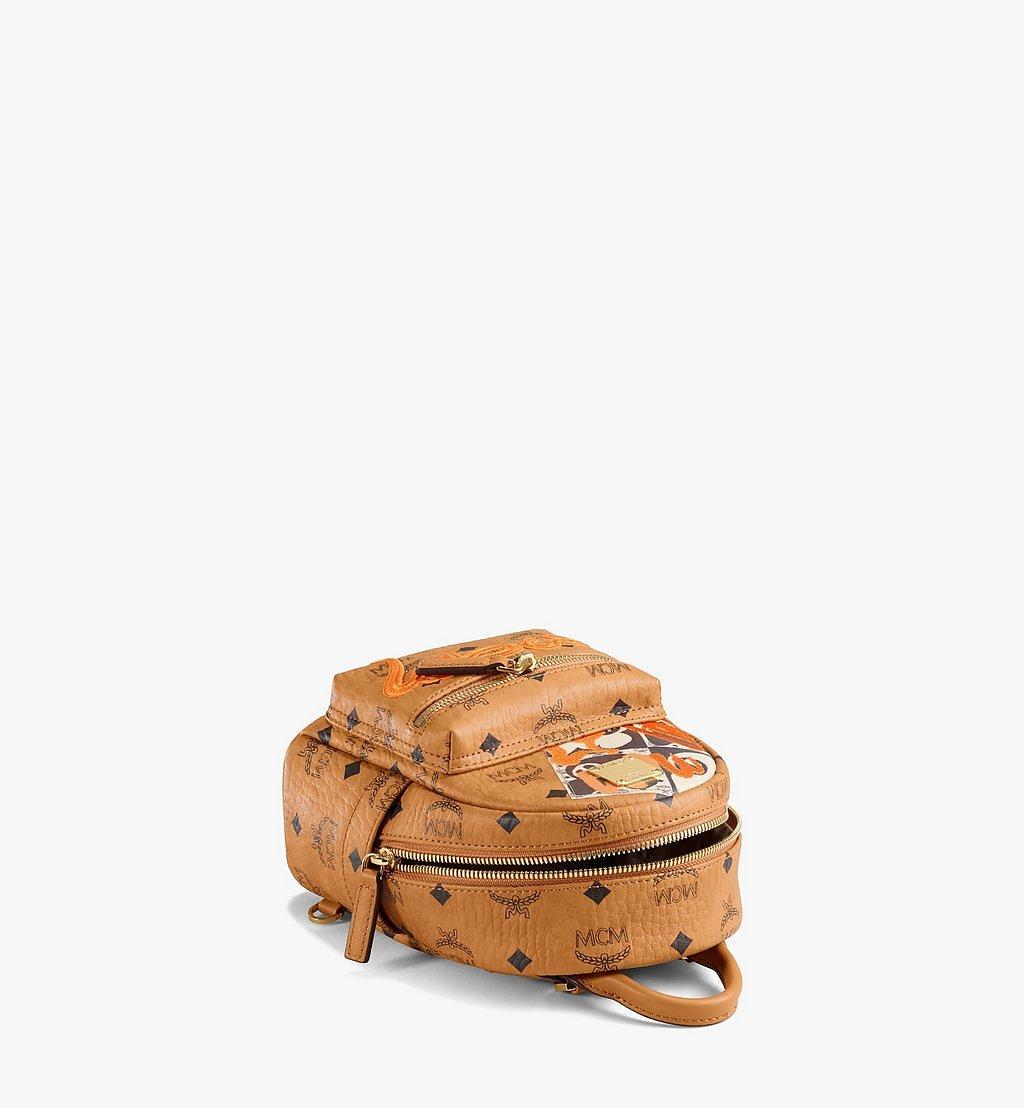 MCM Stark Bebe Boo Backpack in Berlin Bear Visetos Cognac MMKAAVE29CO001 Alternate View 2