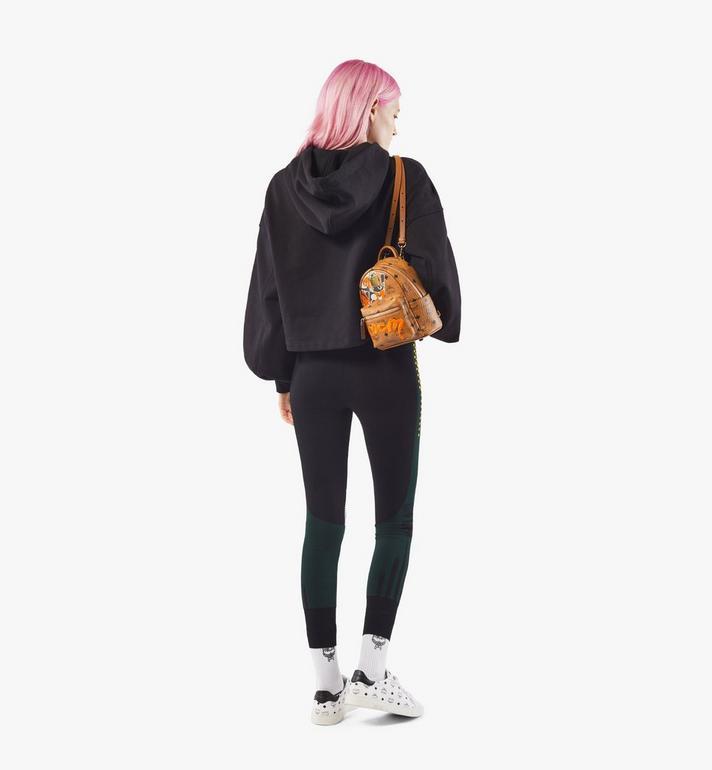 MCM Stark Bebe Boo Backpack in Berlin Bear Visetos Cognac MMKAAVE29CO001 Alternate View 5