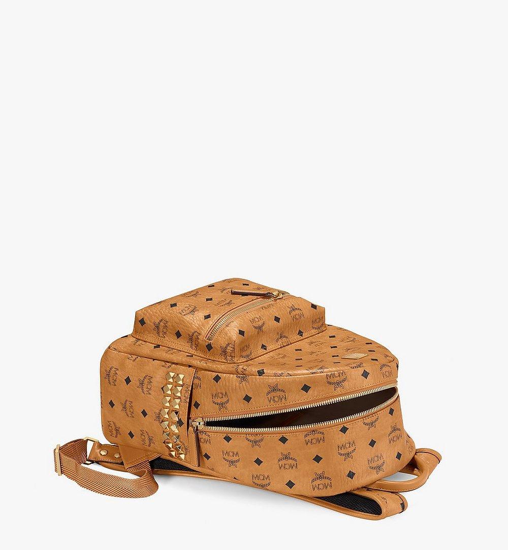 MCM Stark Side Studs Backpack in Visetos Cognac MMKAAVE32CO001 Alternate View 2