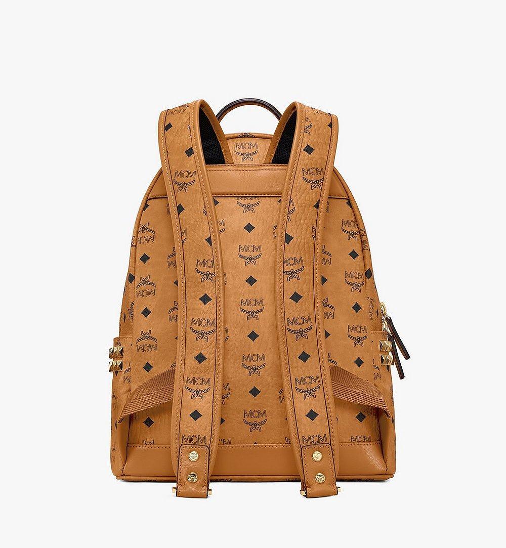 MCM Stark Side Studs Backpack in Visetos Cognac MMKAAVE32CO001 Alternate View 3