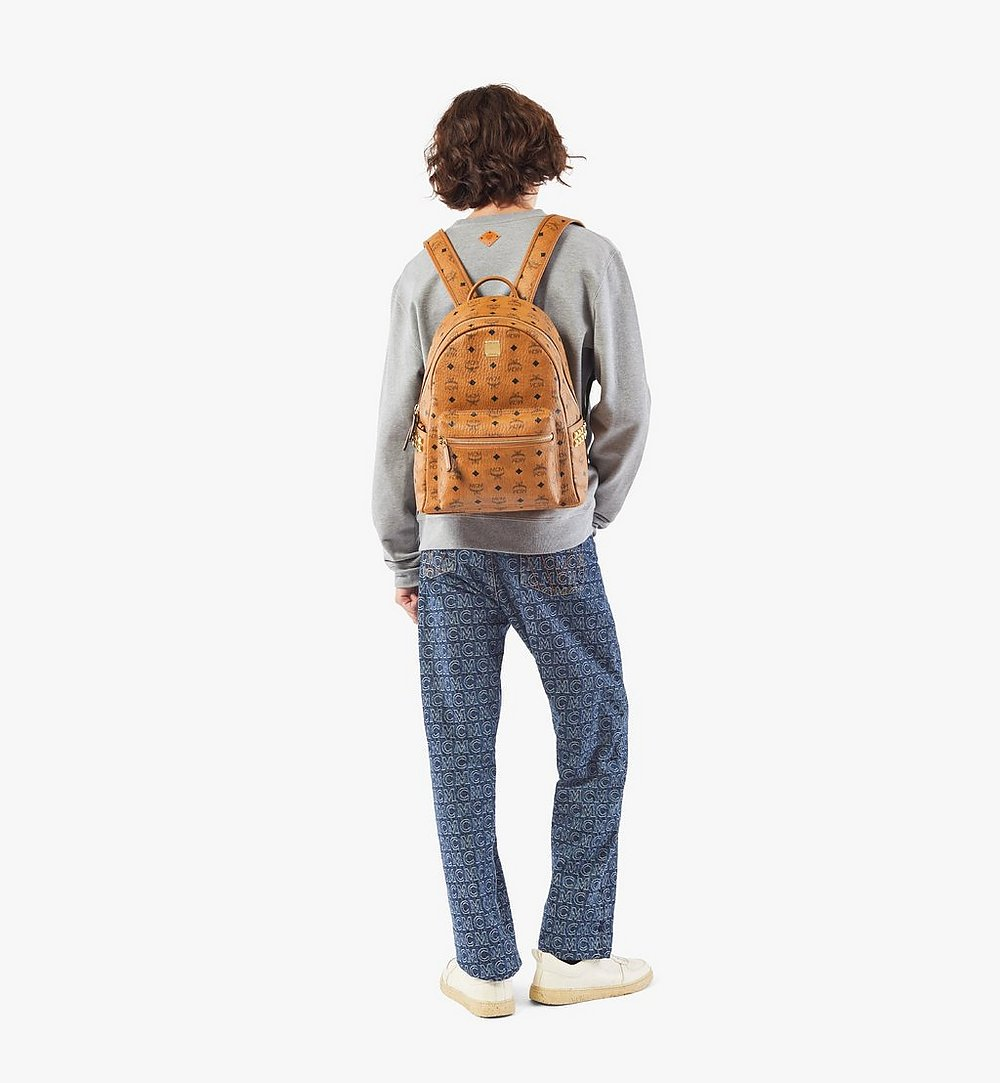 MCM Stark Side Studs Backpack in Visetos Cognac MMKAAVE32CO001 Alternate View 4