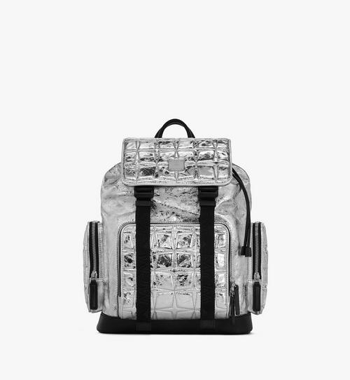 Brandenburg Rucksack aus sternförmig gestepptem Leder