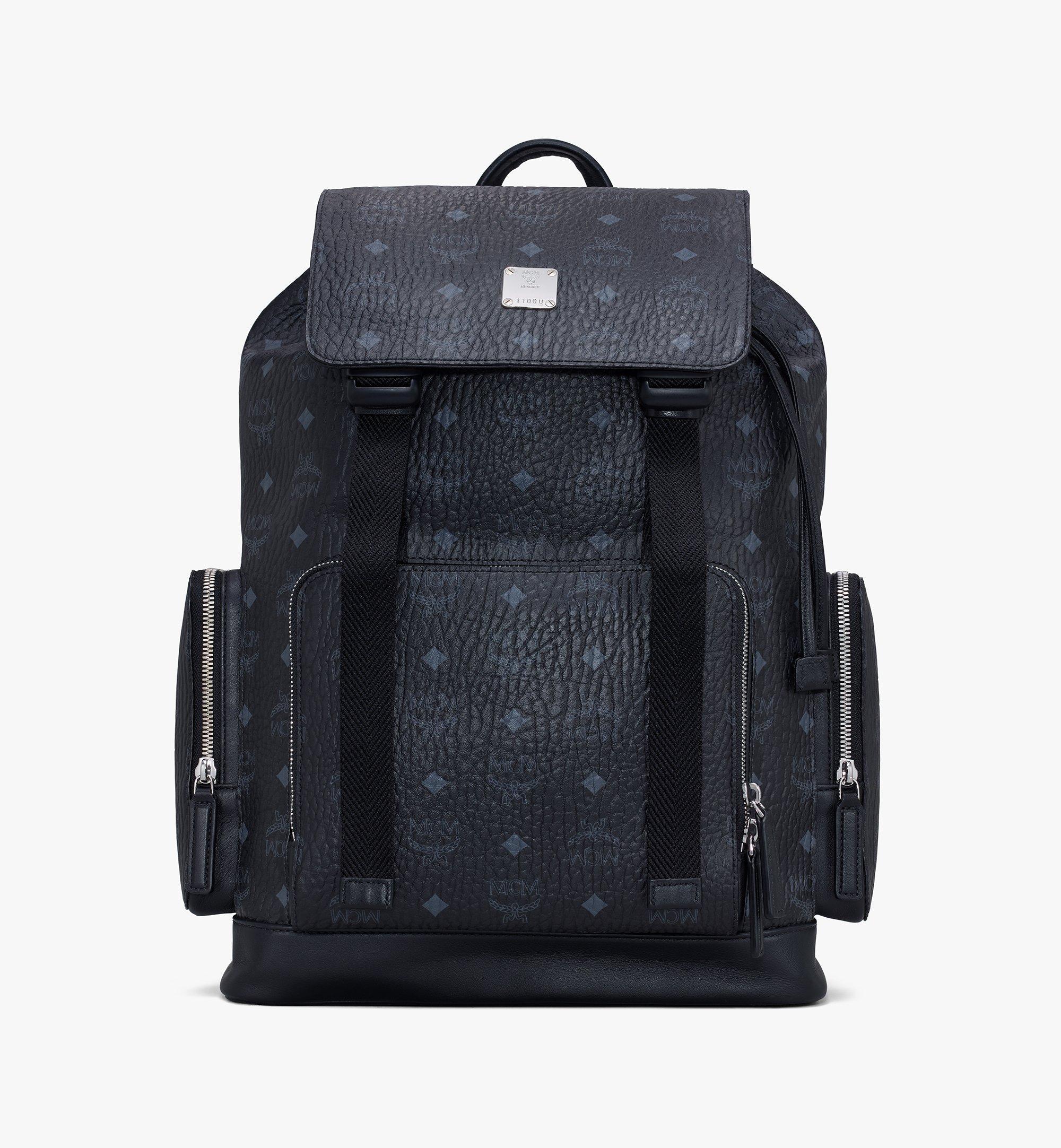 MCM Brandenburg Backpack in Visetos Black MMKASBG03BK001 Alternate View 1