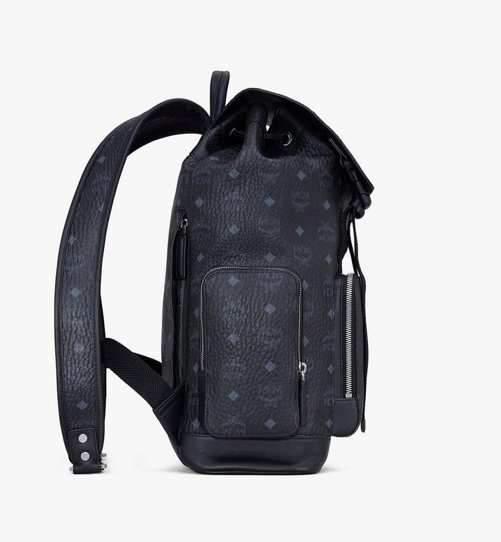 MCM Brandenburg Rucksack in Visetos Black MMKASBG03BK001 Alternate View 2