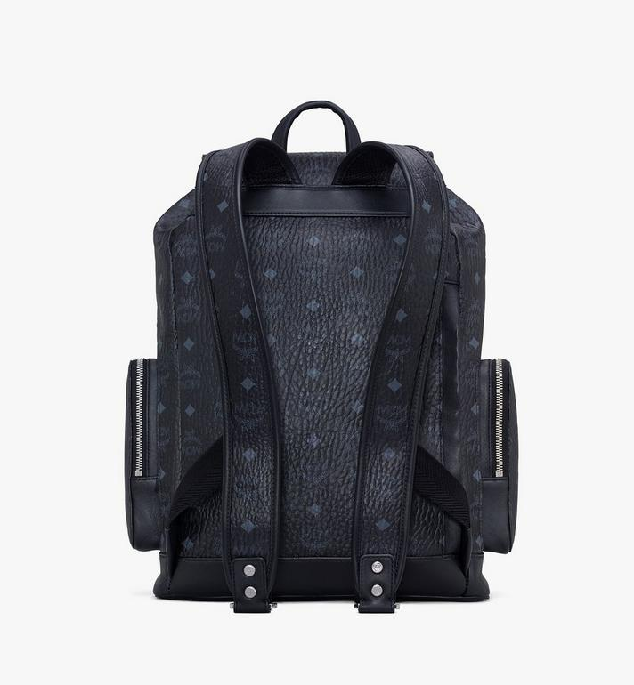 MCM Brandenburg Backpack in Visetos Black MMKASBG03BK001 Alternate View 3