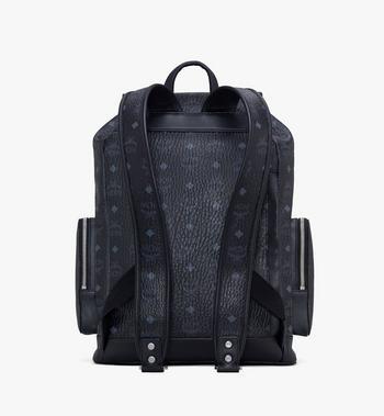 MCM Brandenburg Backpack in Visetos Black MMKASBG03BK001 Alternate View 3