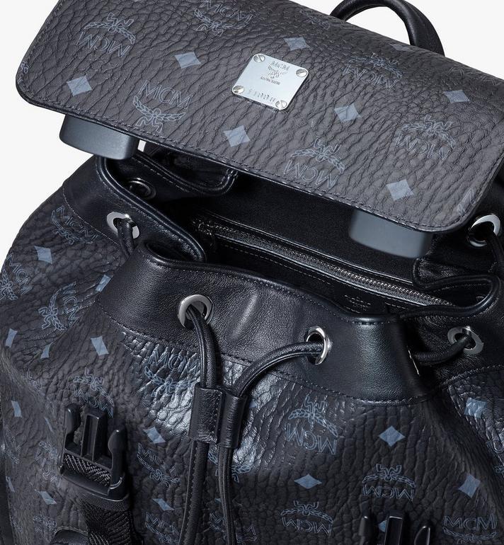 MCM Brandenburg Backpack in Visetos Black MMKASBG03BK001 Alternate View 4