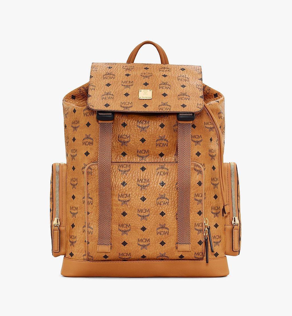 MCM Brandenburg Backpack in Visetos Cognac MMKASBG03CO001 Alternate View 1