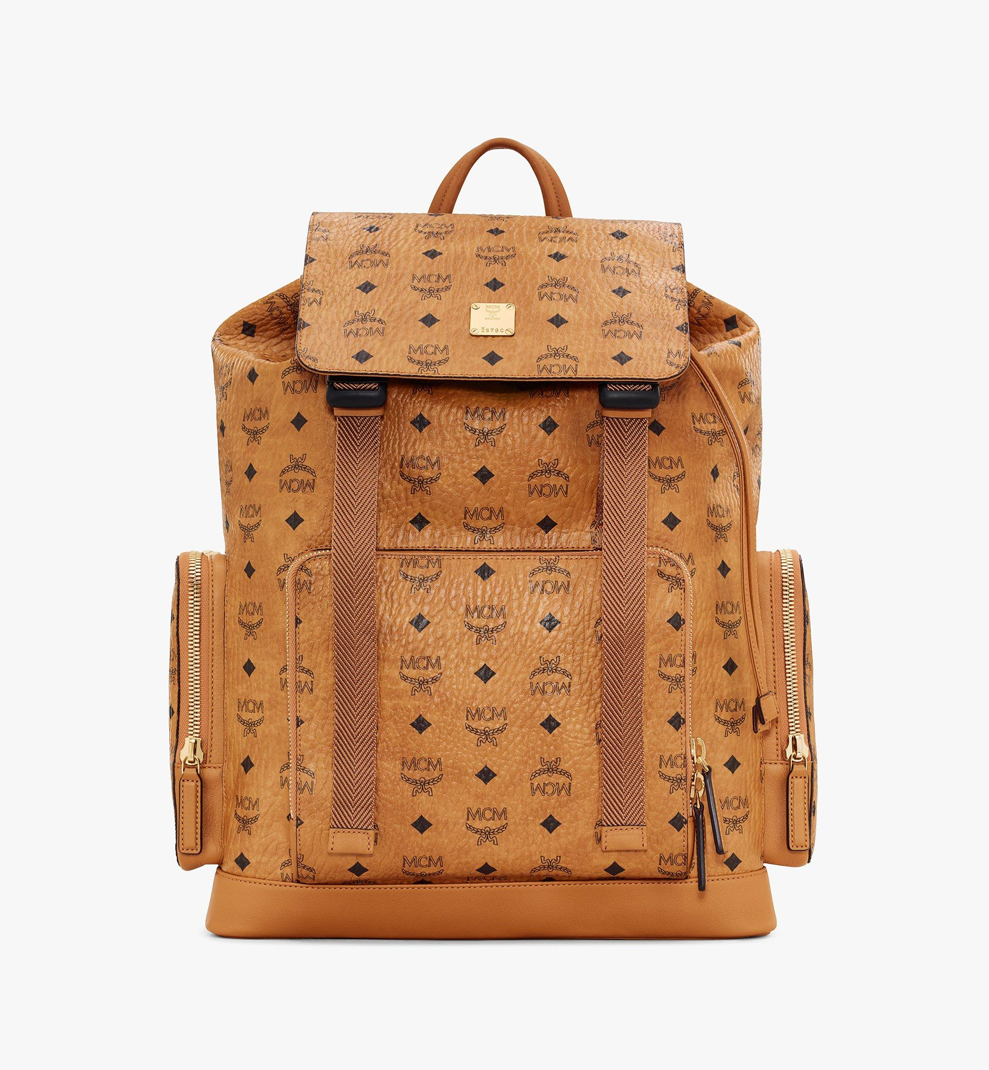 Large Brandenburg Rucksack in Visetos Cognac | MCM® DE