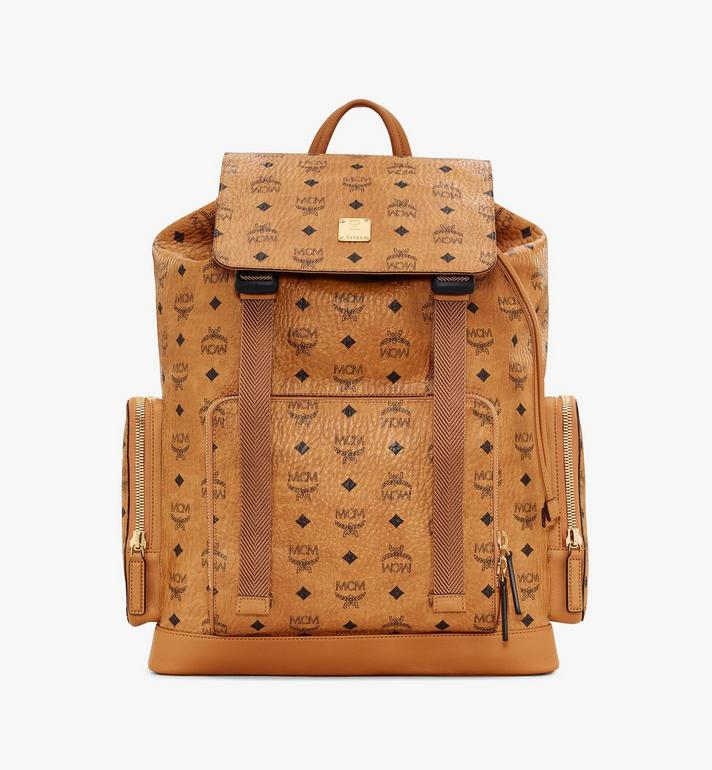 MCM Brandenburg Backpack in Visetos Cognac MMKASBG03CO001 Alternate View 1