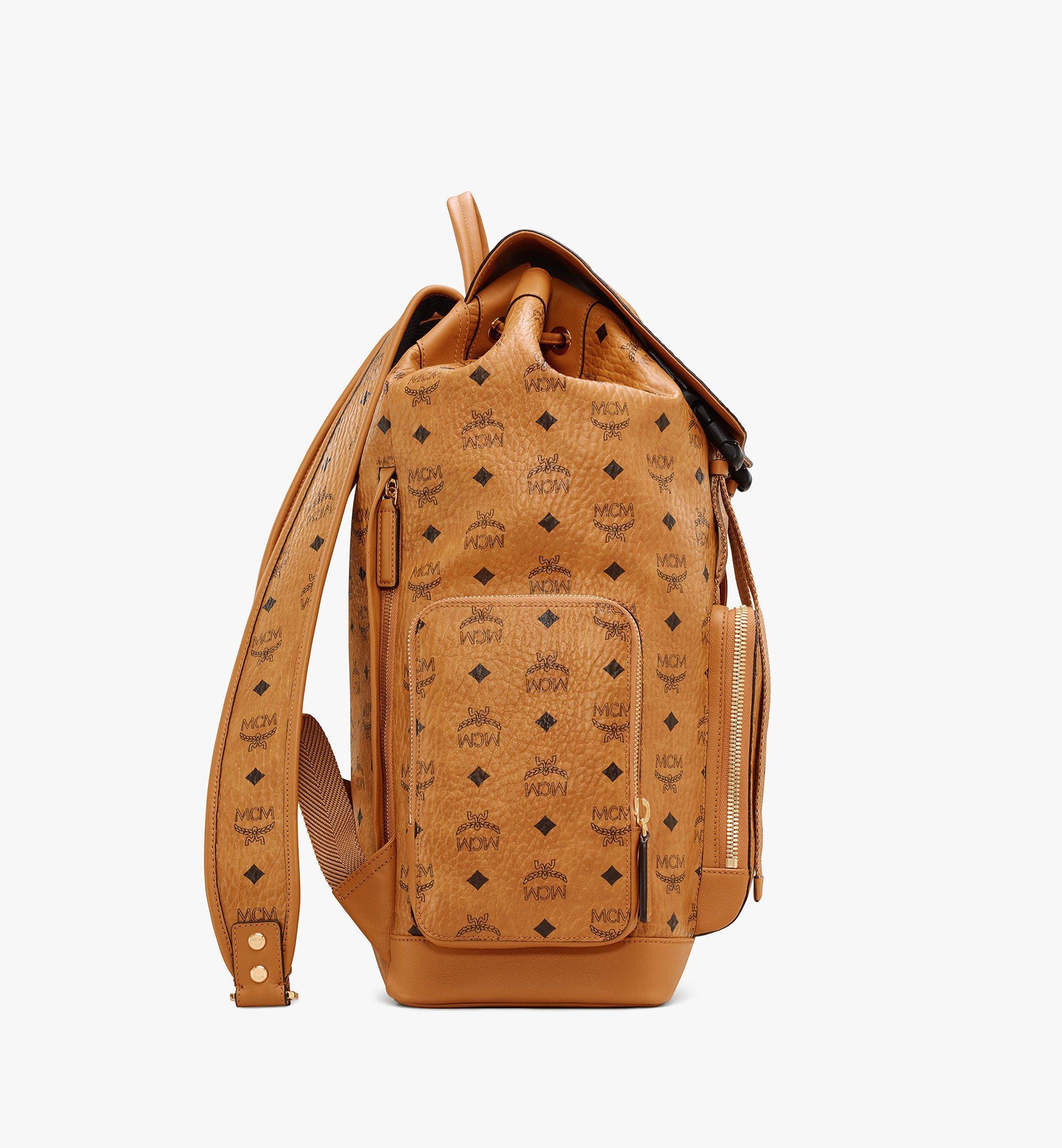 MCM Brandenburg Backpack in Visetos Cognac MMKASBG03CO001 Alternate View 2