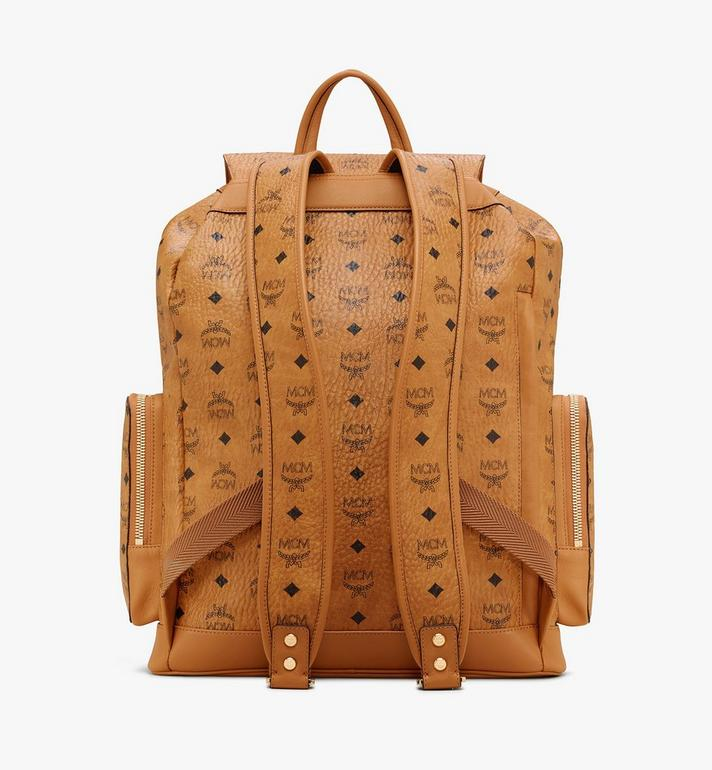 MCM Brandenburg Backpack in Visetos Cognac MMKASBG03CO001 Alternate View 3