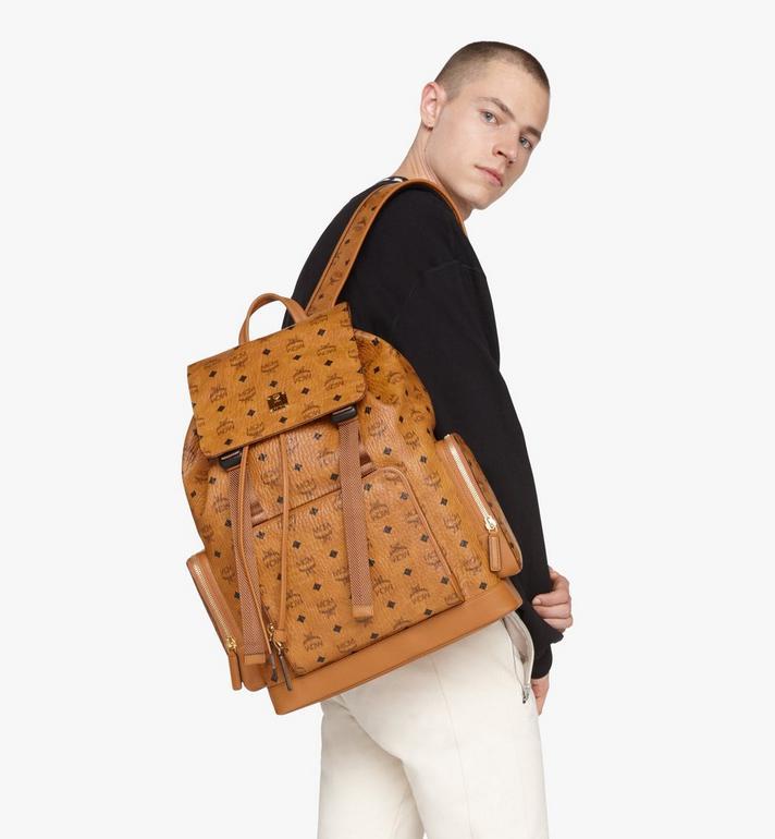 MCM Brandenburg Backpack in Visetos Cognac MMKASBG03CO001 Alternate View 7