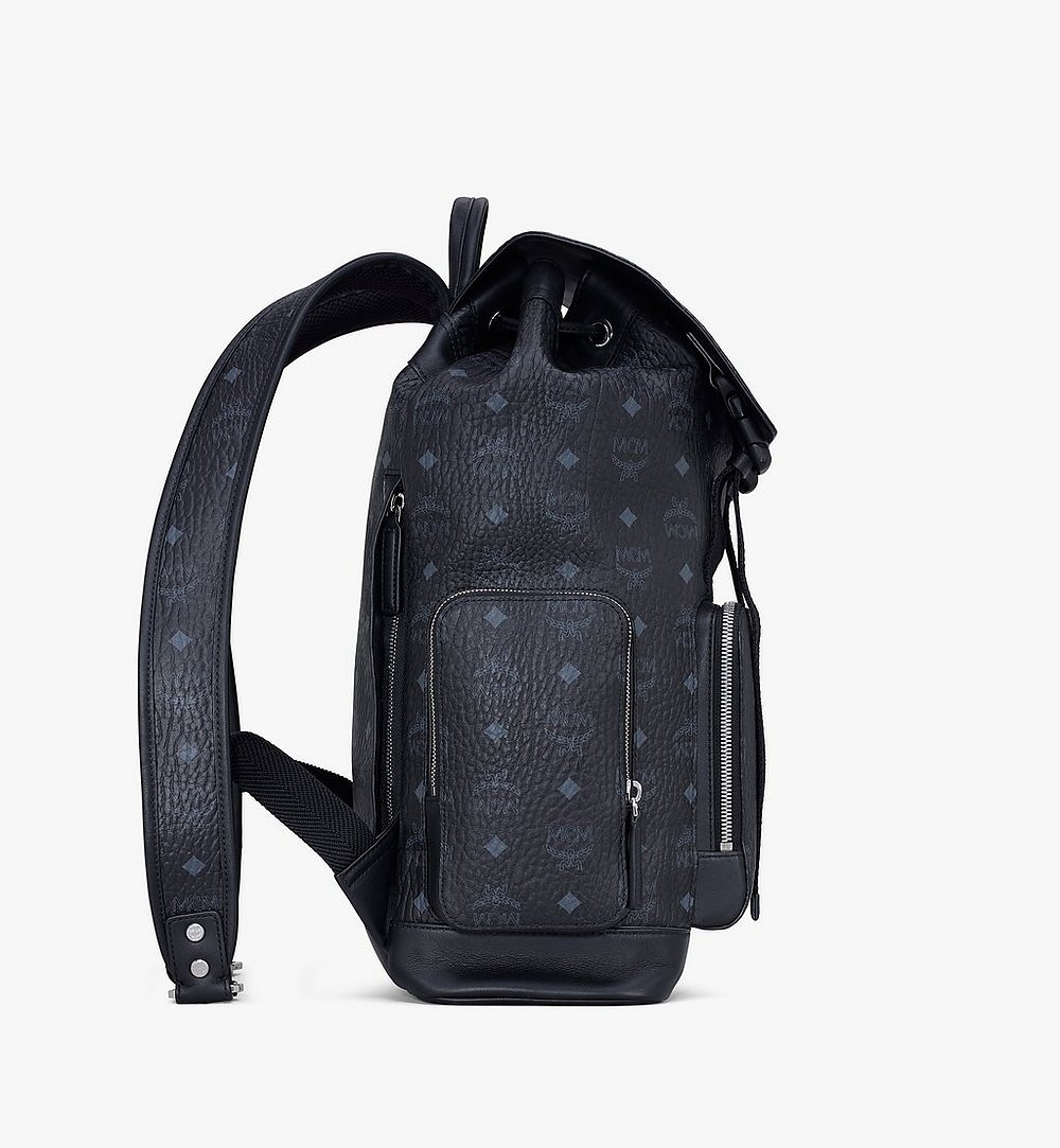 MCM Brandenburg Backpack in Visetos Black MMKASBG04BK001 Alternate View 1