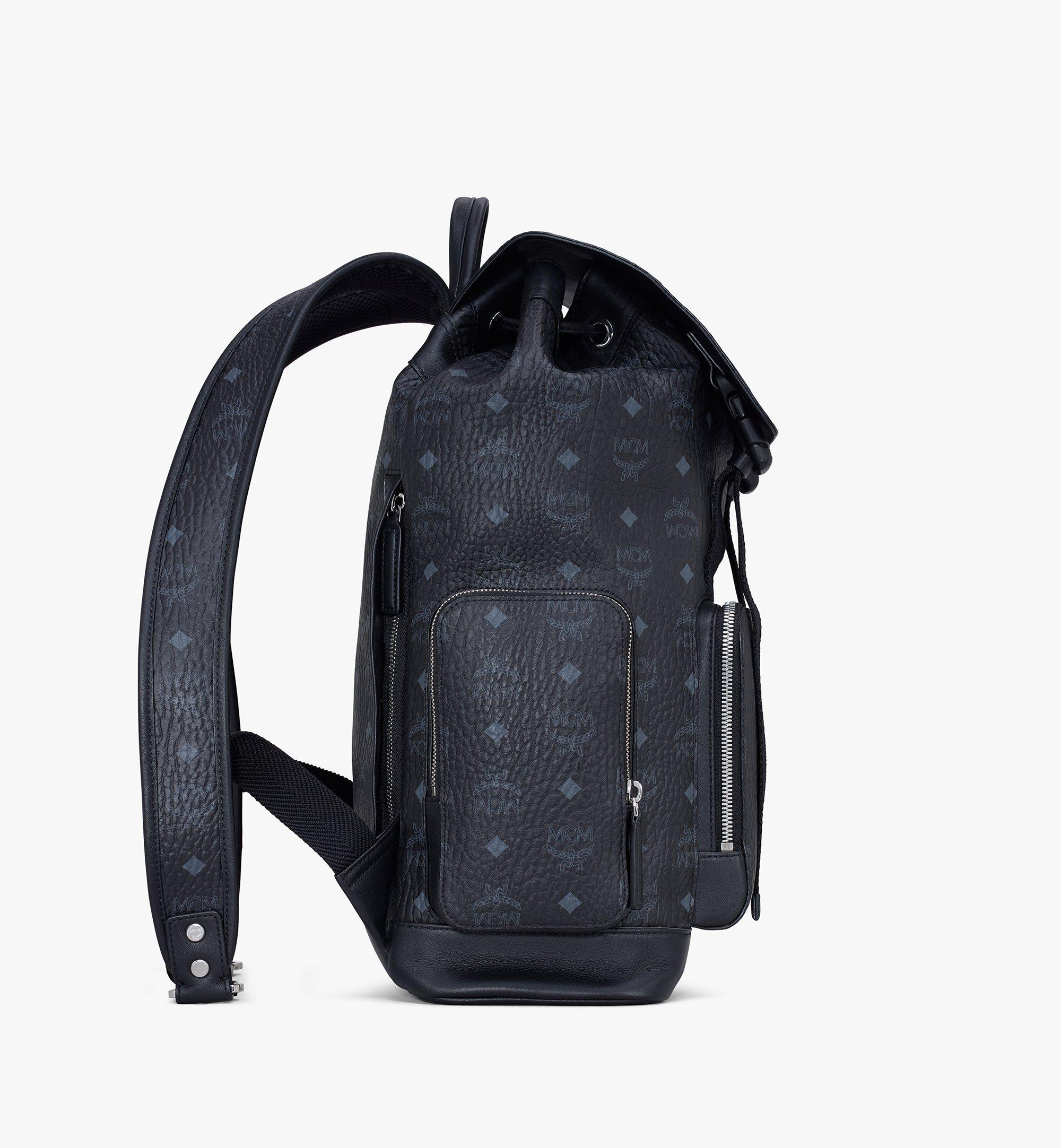 MCM Brandenburg Backpack in Visetos Black MMKASBG04BK001 Alternate View 2