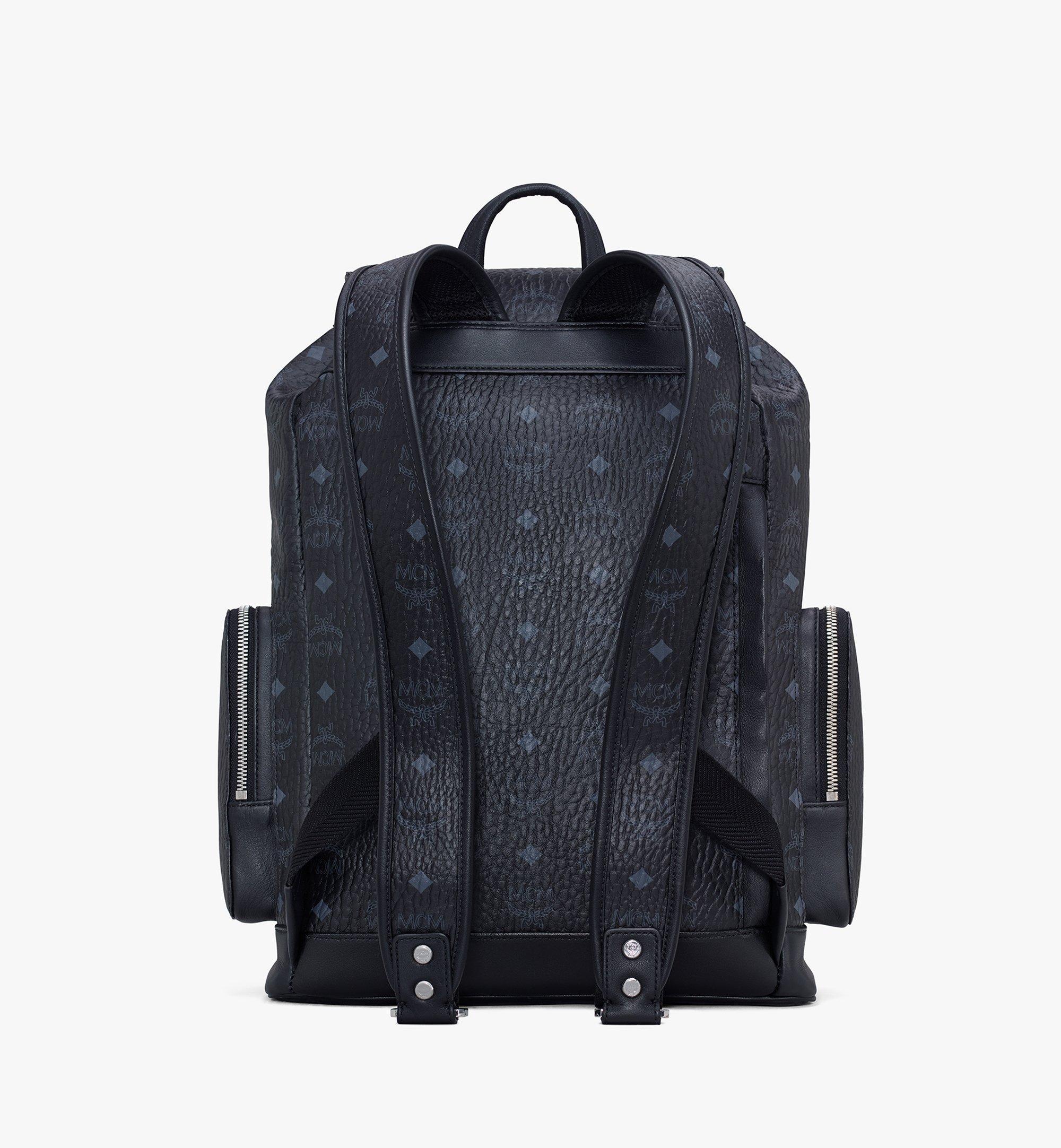 MCM Brandenburg Backpack in Visetos Black MMKASBG04BK001 Alternate View 3