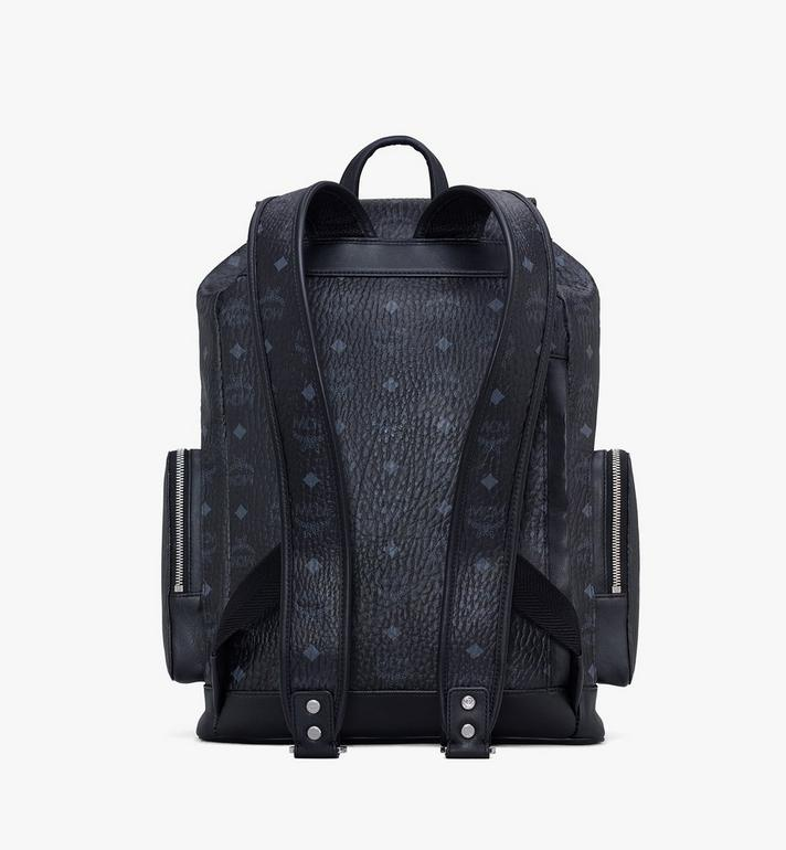 MCM Brandenburg Rucksack in Visetos Black MMKASBG04BK001 Alternate View 3