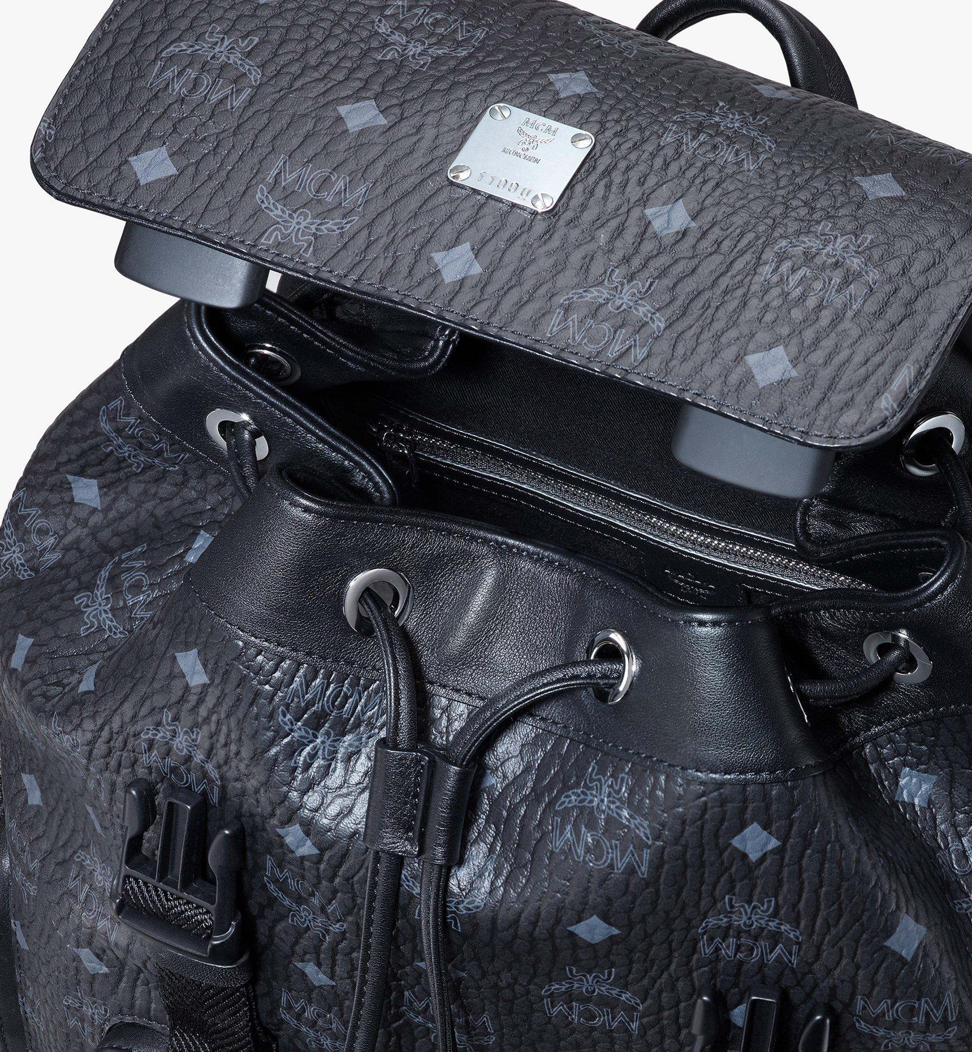 MCM Brandenburg Backpack in Visetos Black MMKASBG04BK001 Alternate View 4