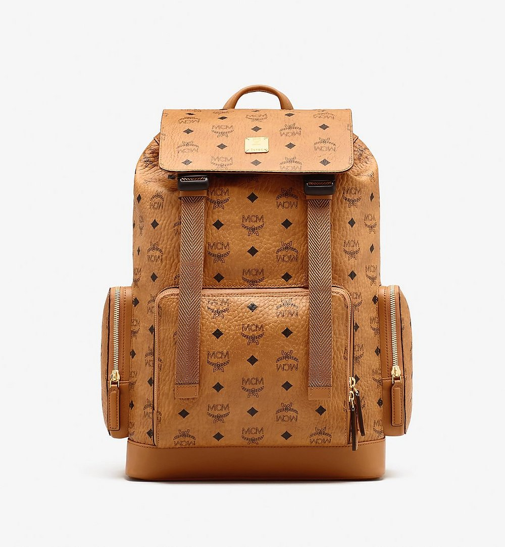 MCM Brandenburg Backpack in Visetos Cognac MMKASBG04CO001 Alternate View 1