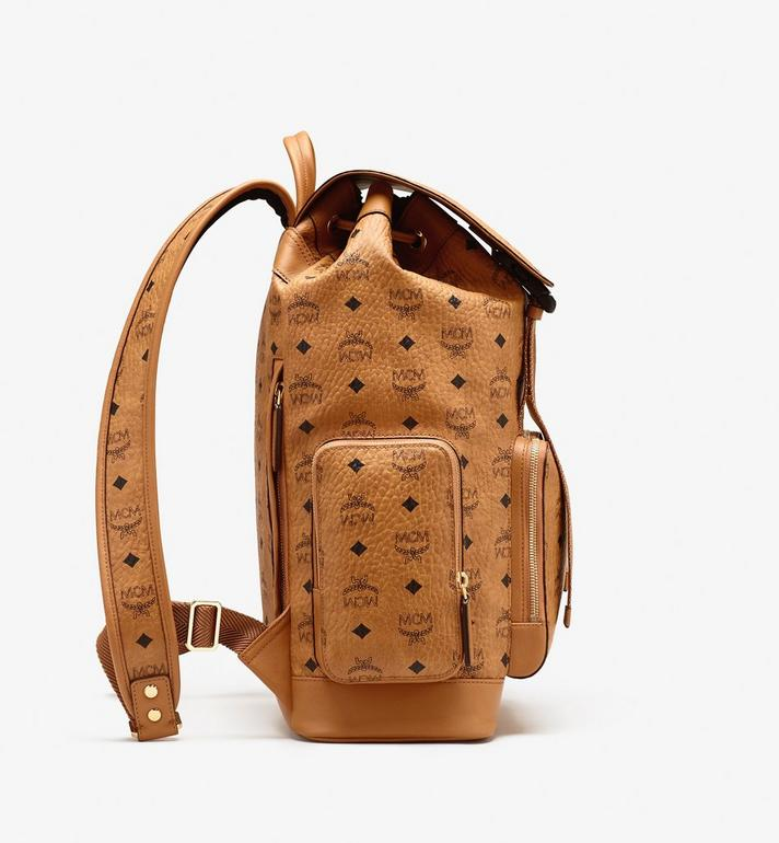 MCM Brandenburg Backpack in Visetos Cognac MMKASBG04CO001 Alternate View 2