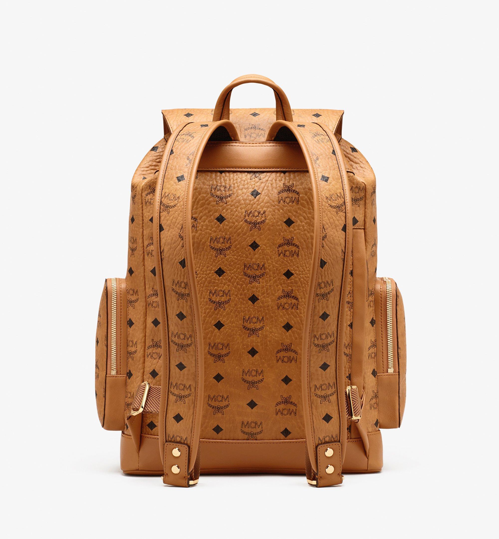 MCM Brandenburg Backpack in Visetos Cognac MMKASBG04CO001 Alternate View 2