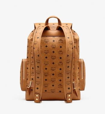 MCM Brandenburg Backpack in Visetos Cognac MMKASBG04CO001 Alternate View 3