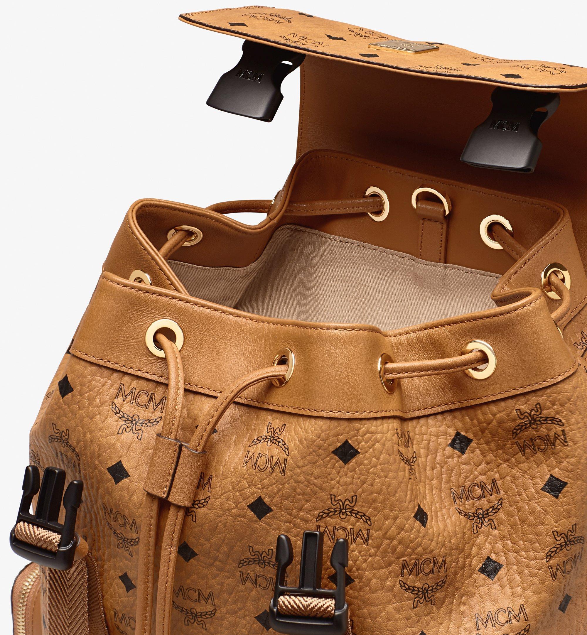 MCM Brandenburg Backpack in Visetos Cognac MMKASBG04CO001 Alternate View 3